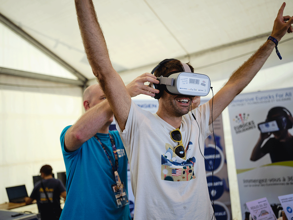 Immersive Eurocks for All diffusion dans un casque de réalité virtuelle